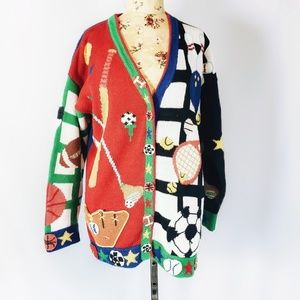 Colorful sporty cardigan!